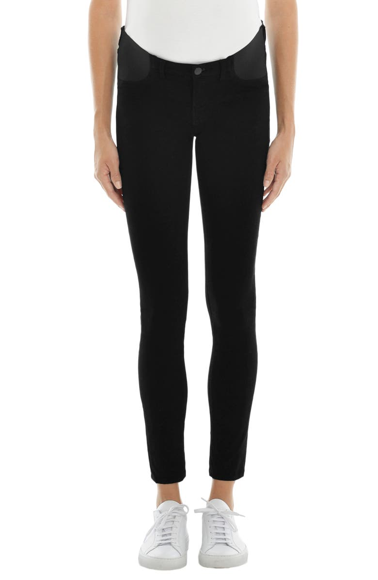 J BRAND Mama J Luxe Sateen Maternity Skinny Jeans, Main, color, 001