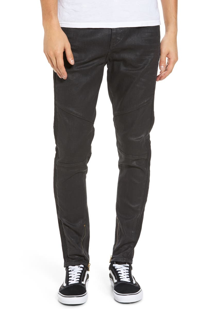 TRUE RELIGION BRAND JEANS Racer Skinny Fit Jeans, Main, color, 001