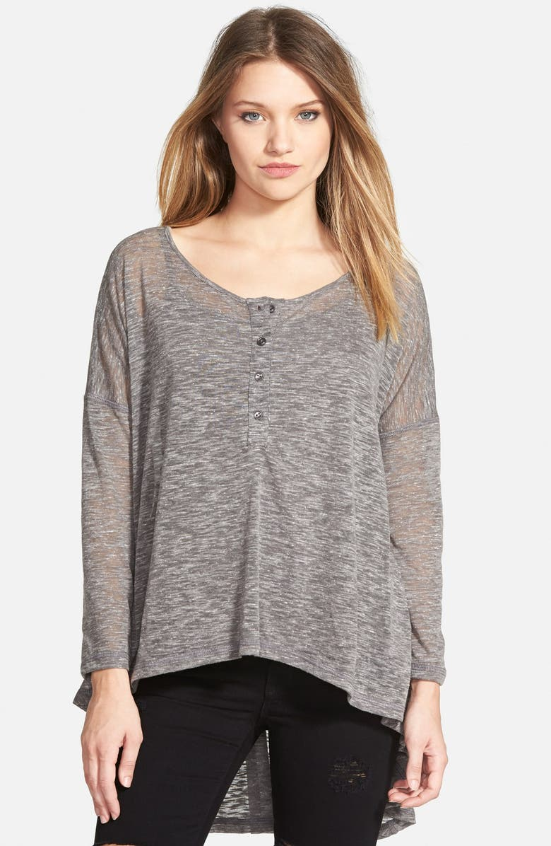 LILY WHITE High/Low Henley, Main, color, 020