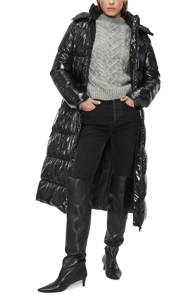 ANINE BING Mary Hooded Puffer Coat, Main, color, 001
