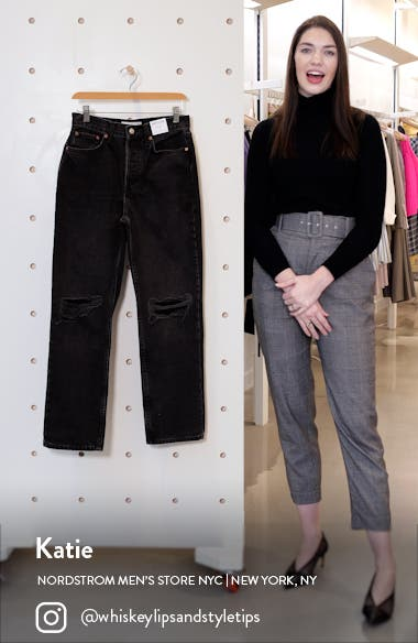 Double Ripped Knee Dad Jeans, sales video thumbnail
