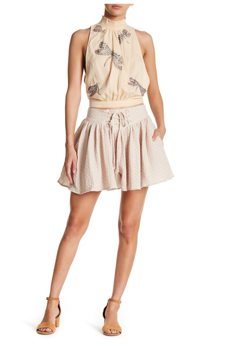 FREE PEOPLE Meet Your Match Skort, Main, color, 102