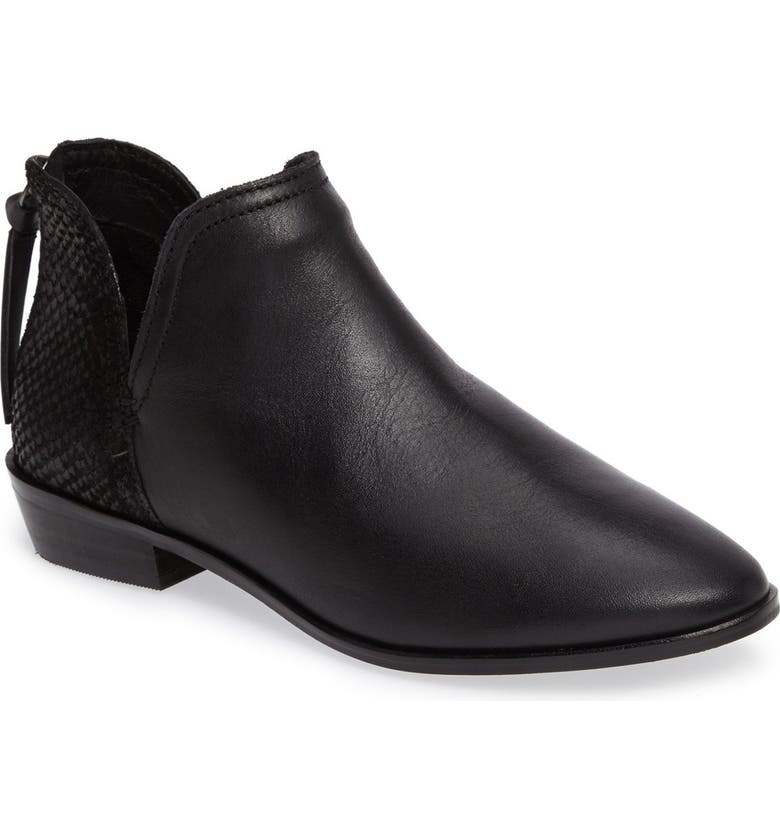 REACTION KENNETH COLE Loop There It Is Bootie, Main, color, BLACK LEATHER
