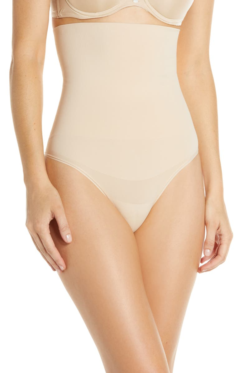 YUMMIE Cooling FX High Waist Thong, Main, color, FRAPPE