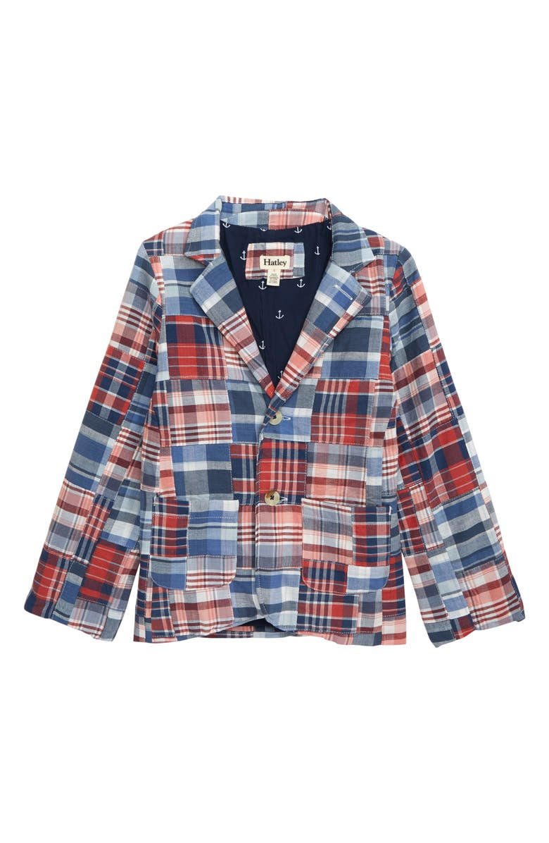 HATLEY Madras Plaid Blazer, Main, color, 400