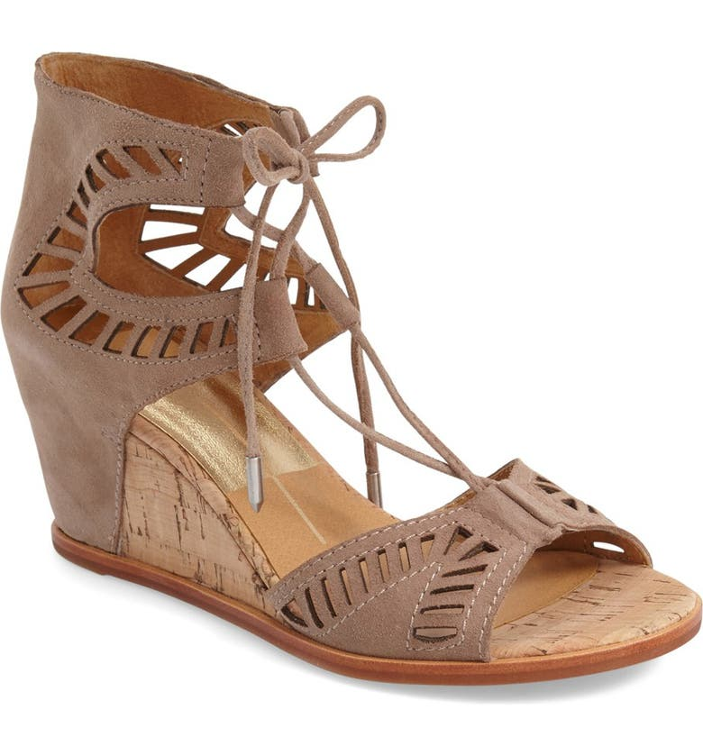 DOLCE VITA 'Linsey' Lace-Up Wedge Sandal, Main, color, 182