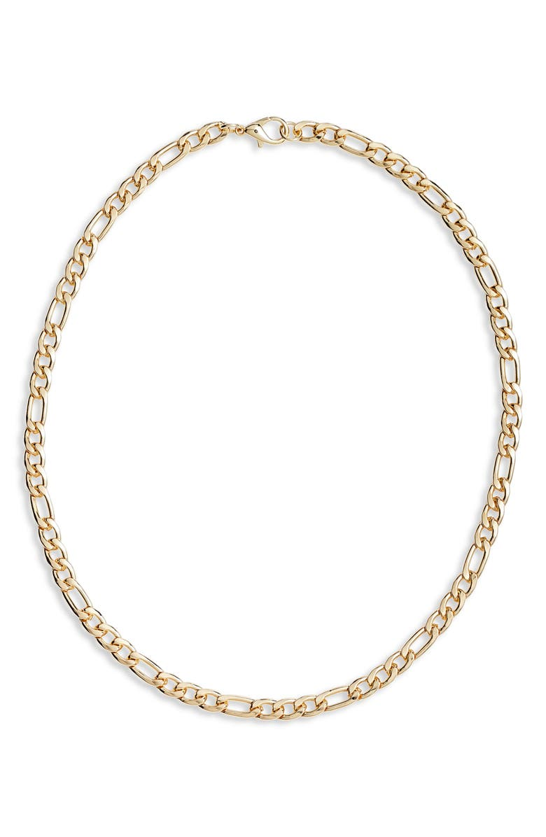 NORDSTROM Classic Figaro Chain Necklace, Main, color, GOLD