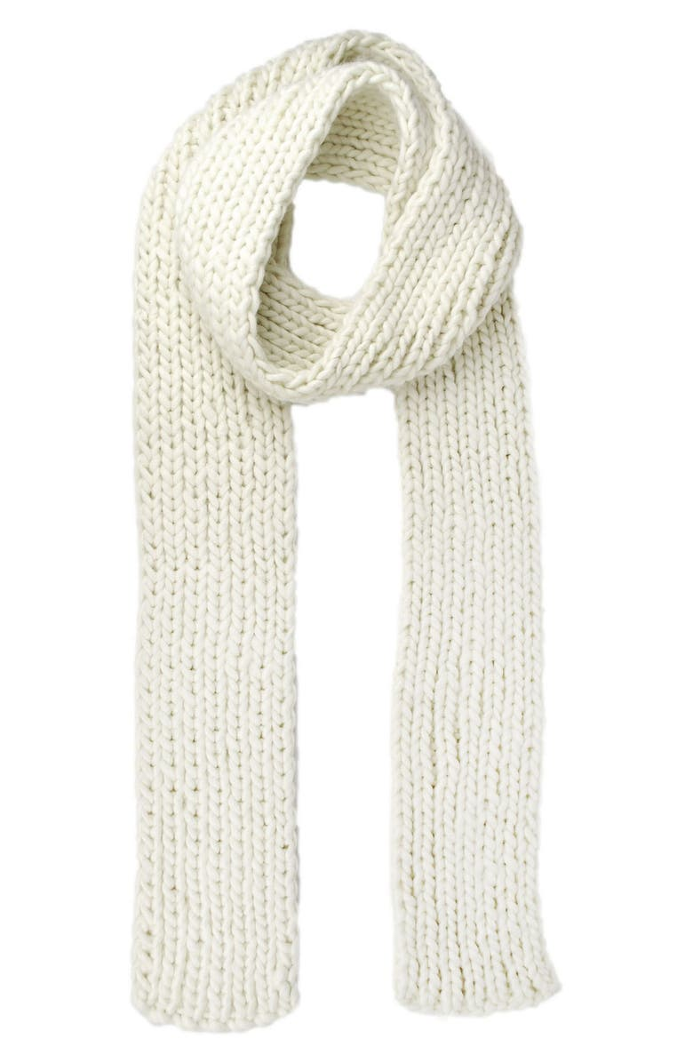MICHAEL STARS Chunky Knit Skinny Scarf, Main, color, 250