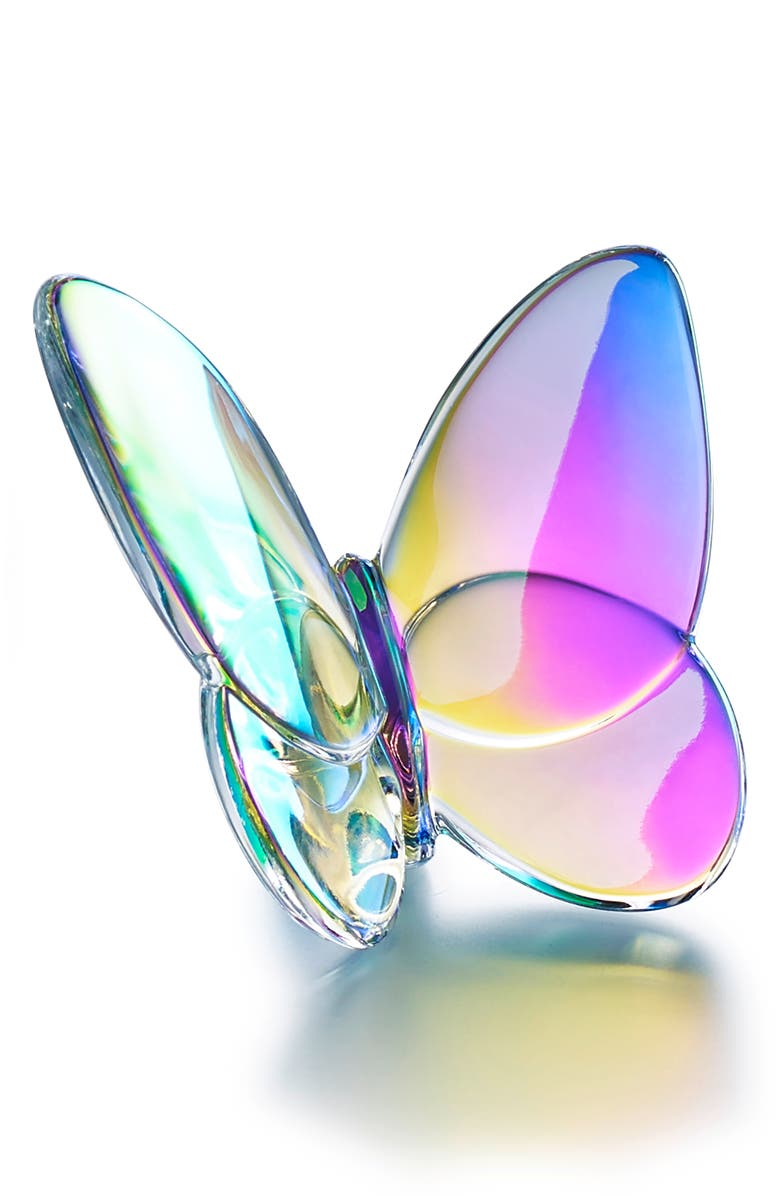 BACCARAT Lucky Lead Crystal Butterfly, Main, color, IRIDESCENT