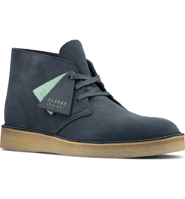 CLARKS<SUP>®</SUP> Desert Coal Chukka Boot, Main, color, BLUE SUEDE