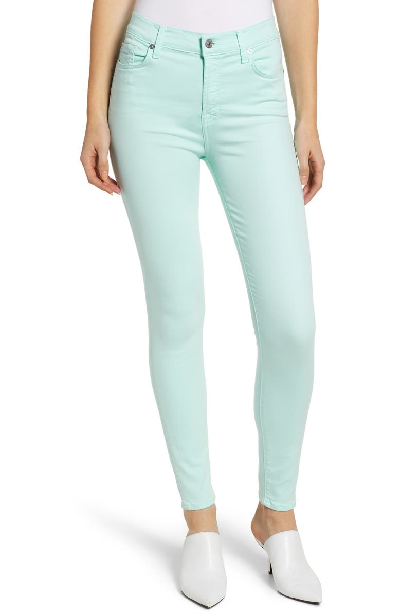 7 FOR ALL MANKIND<SUP>®</SUP> High Waist Ankle Skinny Jeans, Main, color, 301