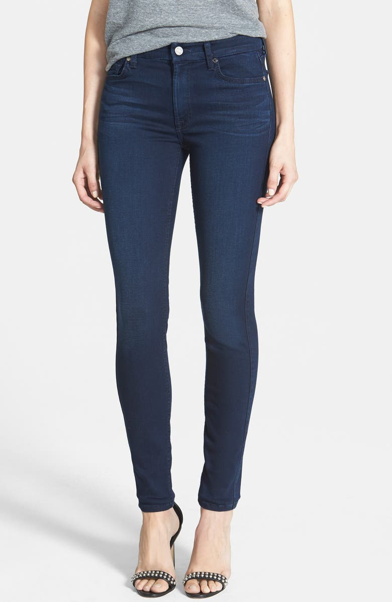 7 FOR ALL MANKIND<SUP>®</SUP> 'Slim Illusion Luxe' Mid Rise Skinny Jeans, Main, color, LUXE RICH BLUE