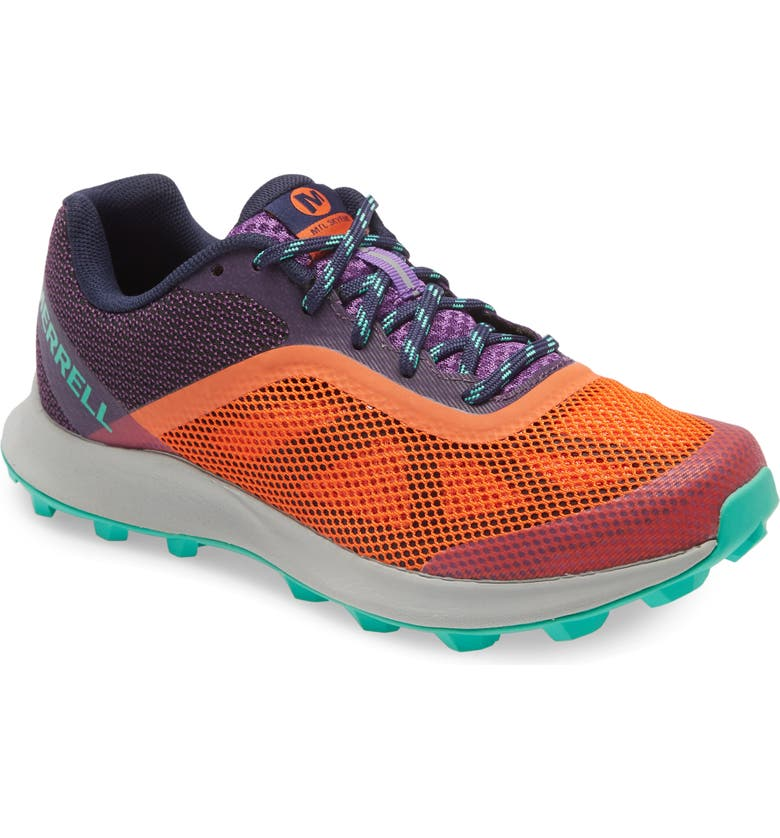 MERRELL MTL Skyfire Trail Running Shoe, Main, color, GOLDFISH FABRIC