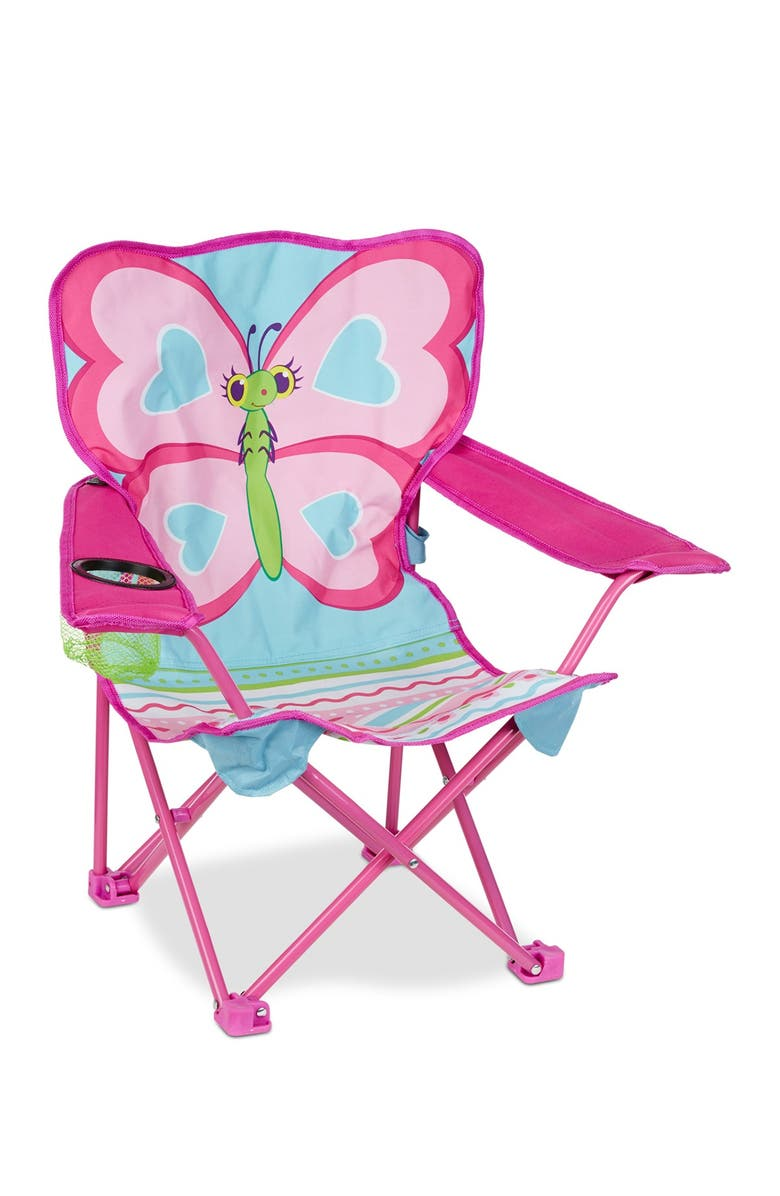 MELISSA AND DOUG Cutie Pie Butterfly Camp Chair, Main, color, NO COLOR