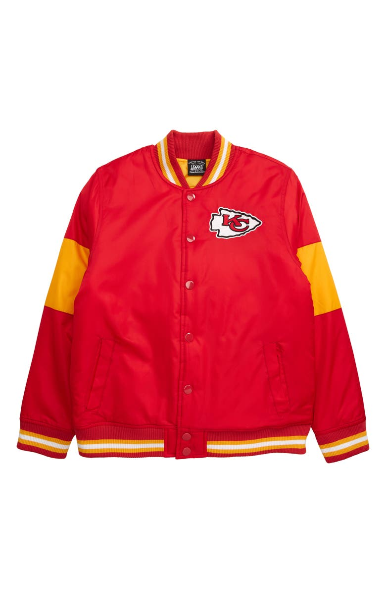 OUTERSTUFF NFL Logo Kansas City Chiefs Throwback Varsity Jacket, Main, color, 600