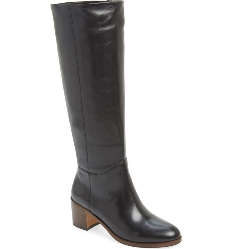 KATE SPADE NEW YORK 'mireille' knee high boot, Main, color, BLACK LEATHER