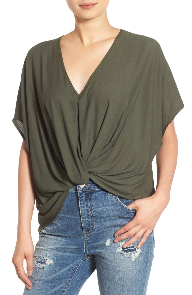 --- Twist Front Woven Top, Main, color, 504