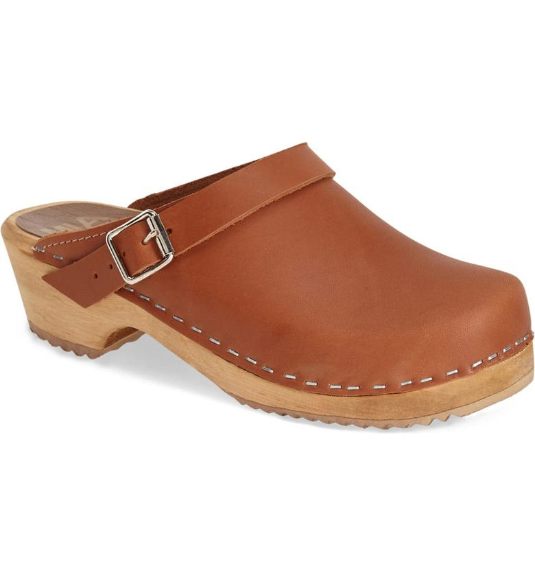 MIA 'Alma' Clog, Main, color, LUGGAGE LEATHER