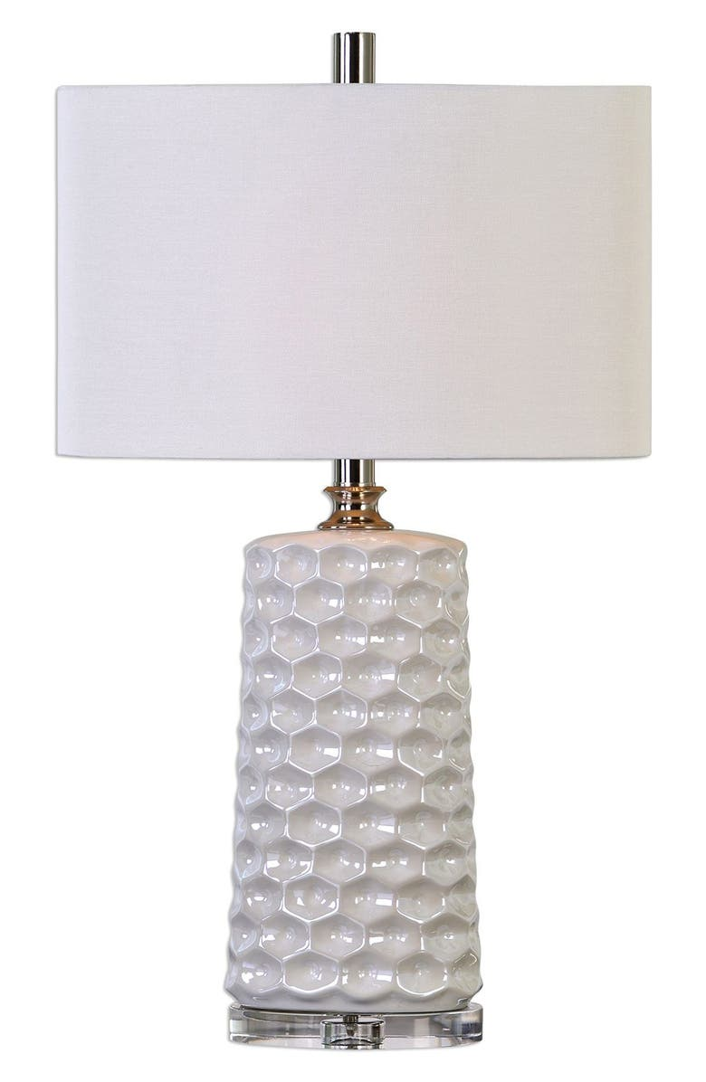 UTTERMOST 'Sesia' Honeycomb Texture Table Lamp, Main, color, 100