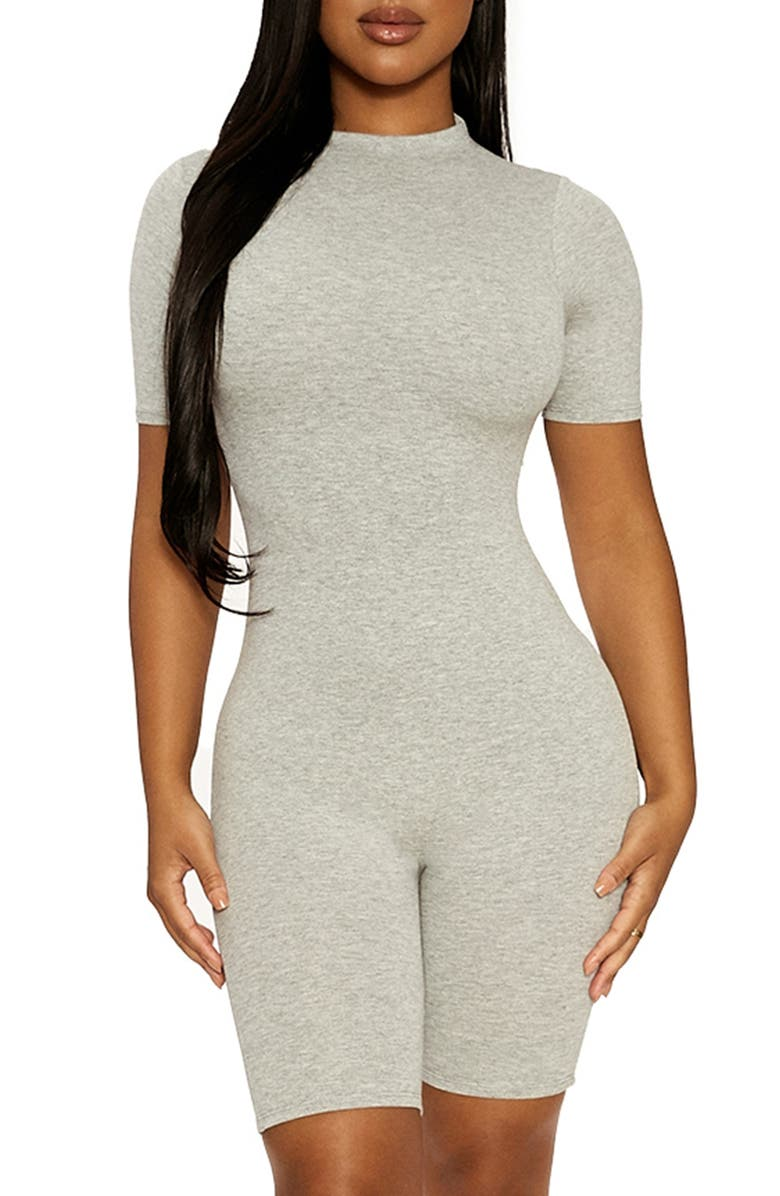 NAKED WARDROBE Sweet T Jumpsuit, Main, color, HEATHER GREY