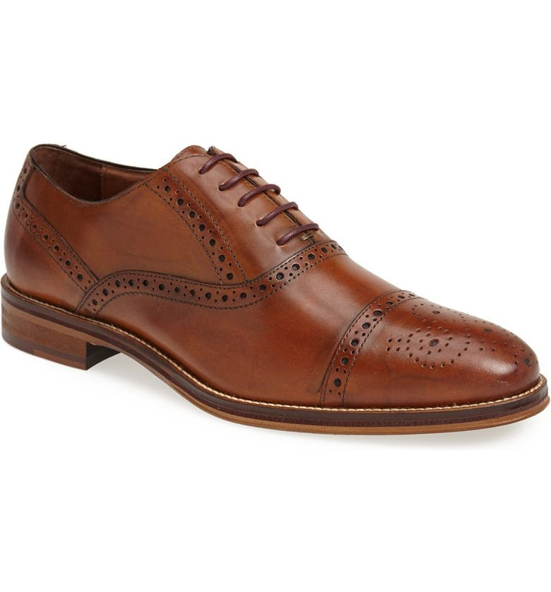JOHNSTON & MURPHY Conard Cap Toe Oxford, Main, color, TAN