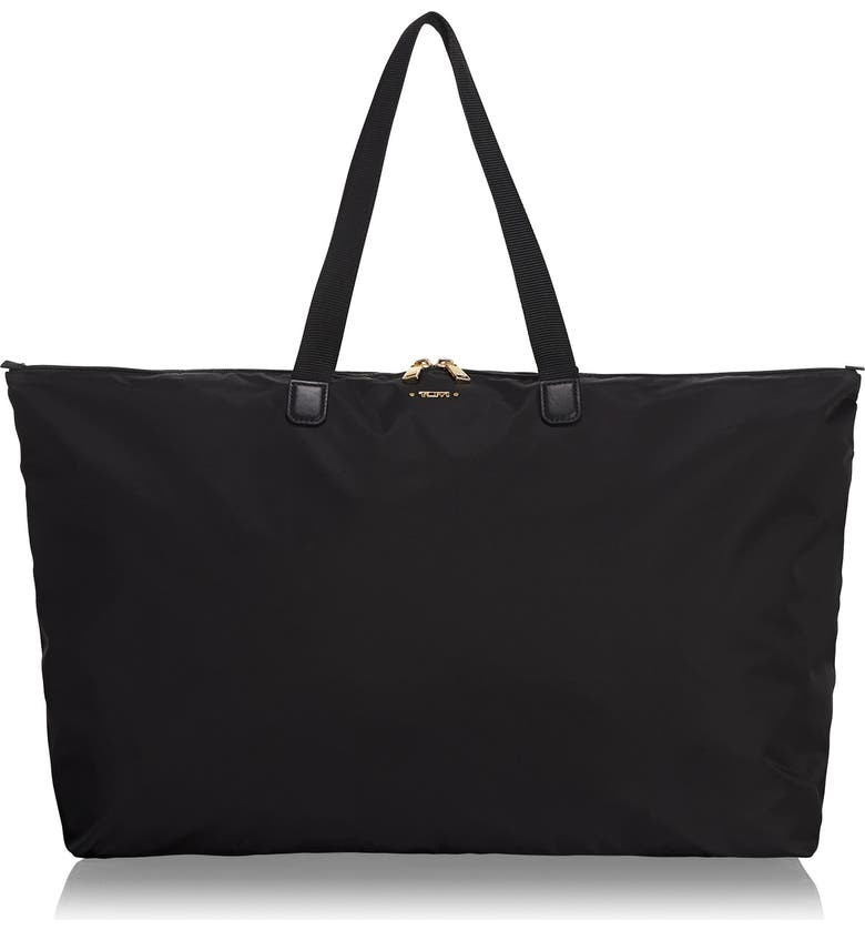TUMI Voyageur Just In Case<sup>®</sup> Packable Nylon Tote, Main, color, BLACK