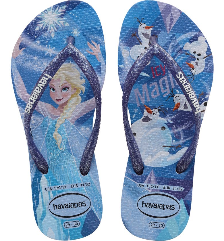 HAVAIANAS Slim 'Frozen' Flip Flop, Main, color, QUIET LILAC