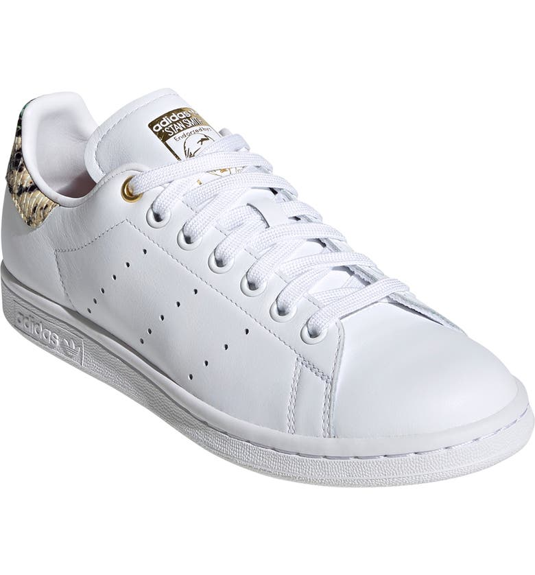 ADIDAS Stan Smith Sneaker, Main, color, WHITE/ SCARLET/ GOLD