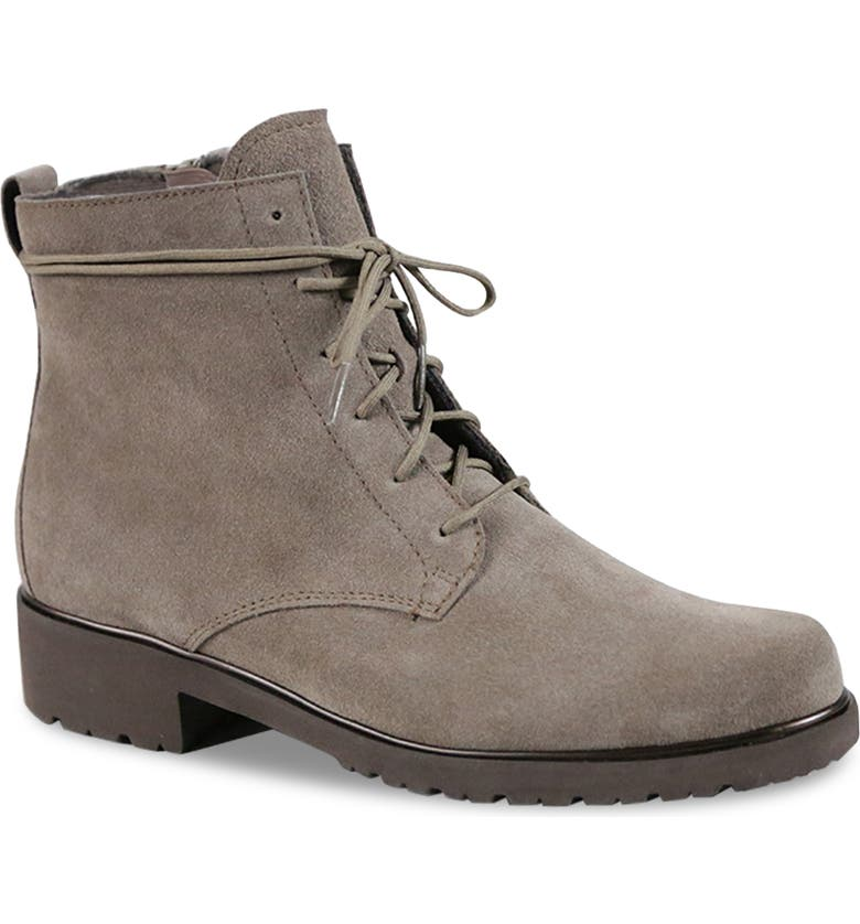 MUNRO Finley Water Resistant Bootie, Main, color, TAUPE SUEDE
