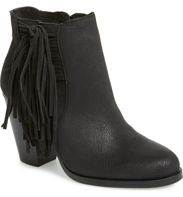 VINCE CAMUTO 'Harlin' Fringe Bootie, Main, color, 001