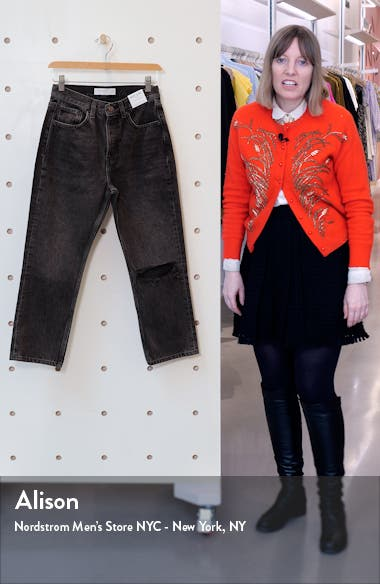 Chicago Editor Nonstretch High Waist Ripped Crop Jeans, sales video thumbnail
