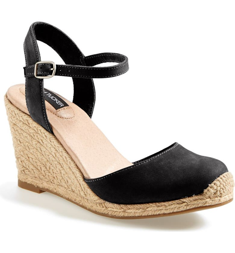ADAM TUCKER BY ME TOO 'Bethany' Wedge Sandal, Main, color, 001