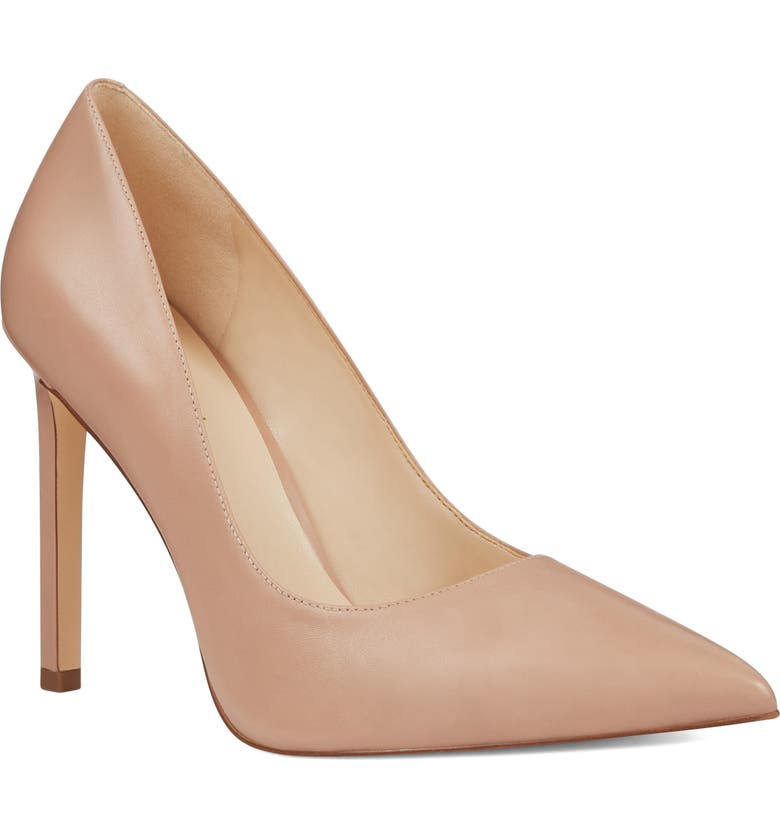 NINE WEST 'Tatiana' Pointy Toe Pump, Main, color, NATURAL