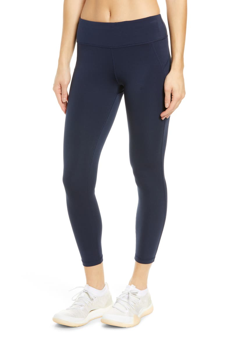 SWEATY BETTY All Day 7/8 Leggings, Main, color, NAVY BLUE