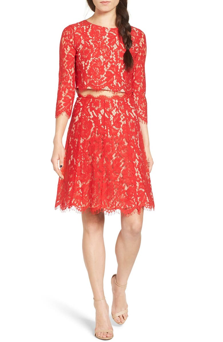 EVERLY Lace Two-Piece Dress, Main, color, 600