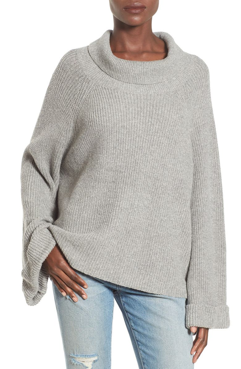 LEITH Cowl Neck Shaker Pullover, Main, color, 030