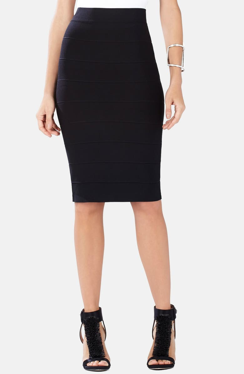 BCBGMAXAZRIA Bandage Pencil Skirt, Main, color, 001