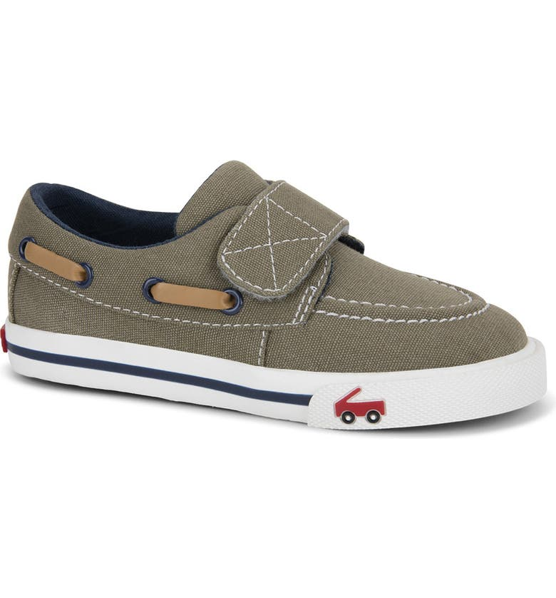 SEE KAI RUN Elias Boat Shoe, Main, color, KHAKI/NAVY