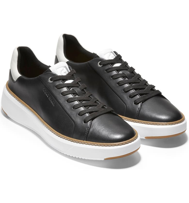 COLE HAAN GrandPro Topspin Sneaker, Main, color, BLACK LEATHER / WHITE