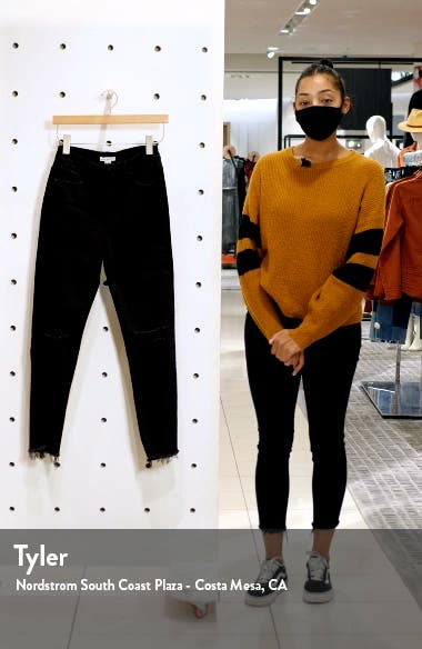 Good Straight Ripped Fray Hem Crop Jeans, sales video thumbnail