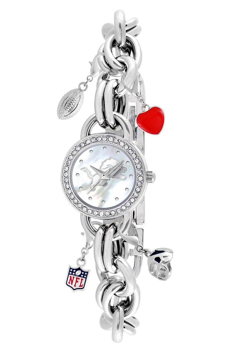 GAME TIME WATCHES 'NFL - New England Patriots' Charm Bracelet Watch, 23mm, Main, color, 020