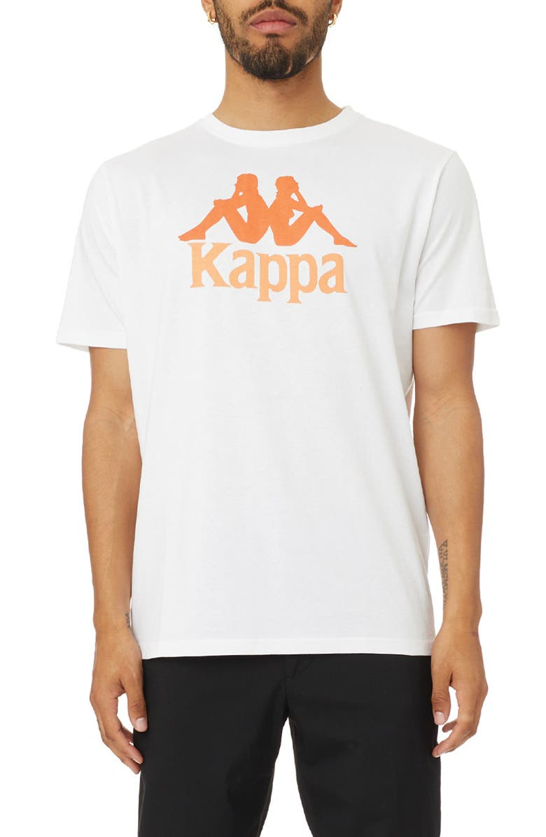 KAPPA Authentic Estessi Graphic Tee, Main, color, WHITE / ORANGE / DUSTY ORANGE