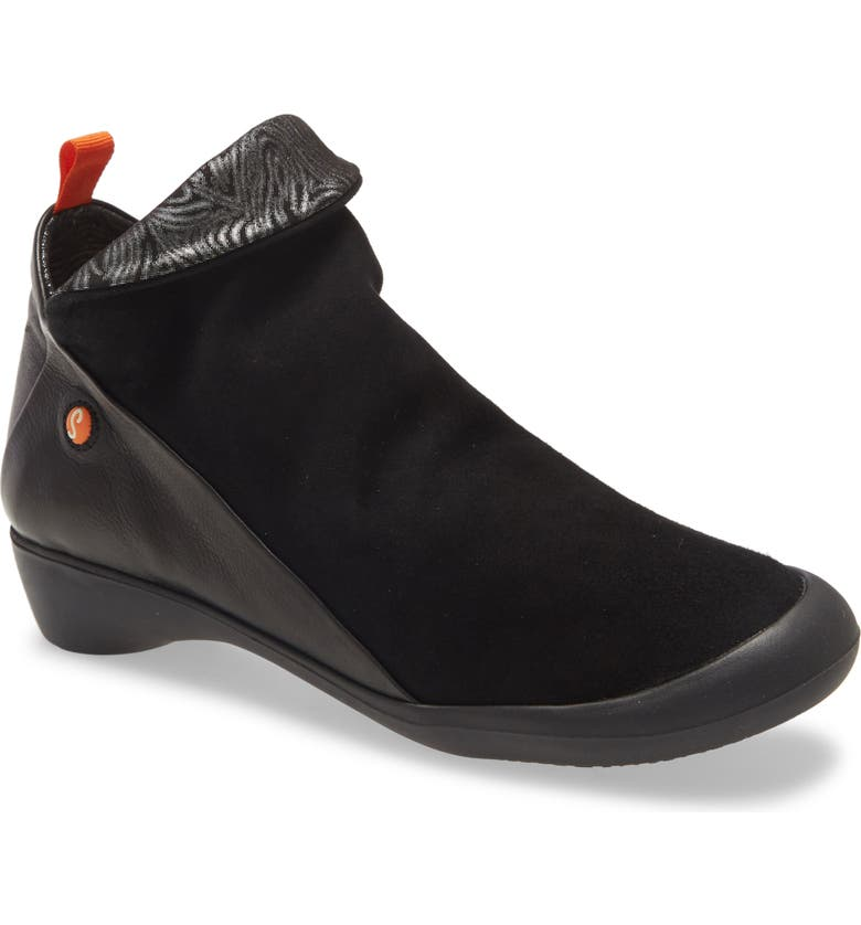 SOFTINOS BY FLY LONDON Farah Bootie, Main, color, BLACK LEATHER COMBINATION