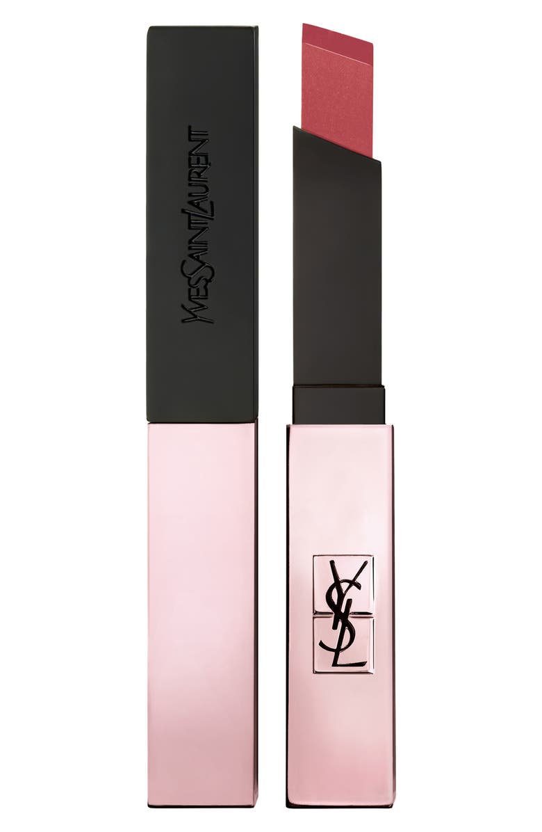 YVES SAINT LAURENT The Slim Glow Matte Lipstick, Main, color, 203 RESTRICTED PINK