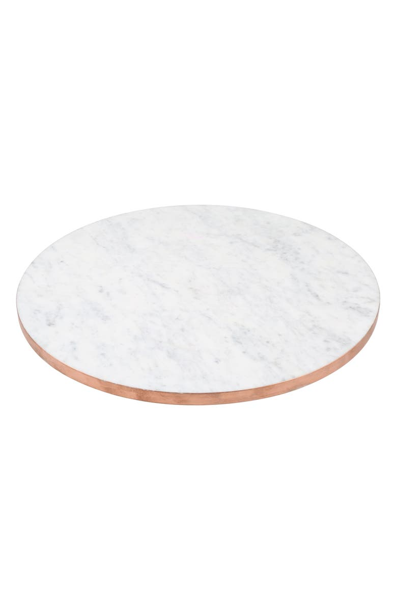 THIRSTYSTONE Copper Edge Marble Lazy Susan, Main, color, 020