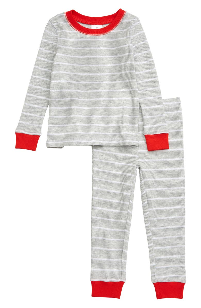 RACHEL PARCELL Thermal Fitted Two-Piece Pajamas, Main, color, 050