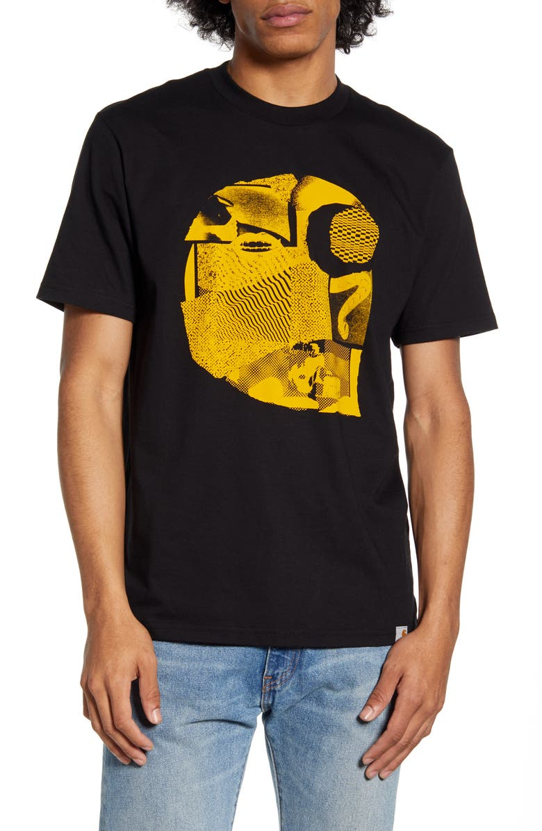 CARHARTT WORK IN PROGRESS Cutout Logo T-Shirt, Main, color, 001