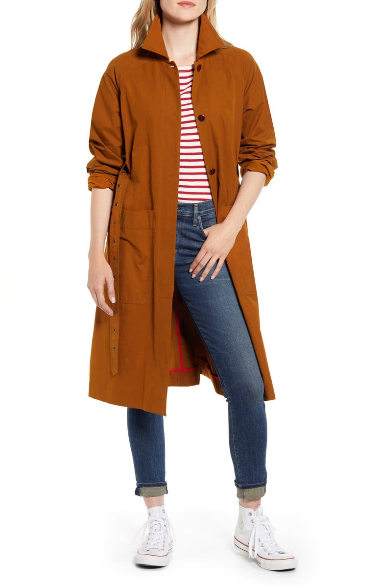 ALEX MILL Belted Trench Coat, Main, color, 200