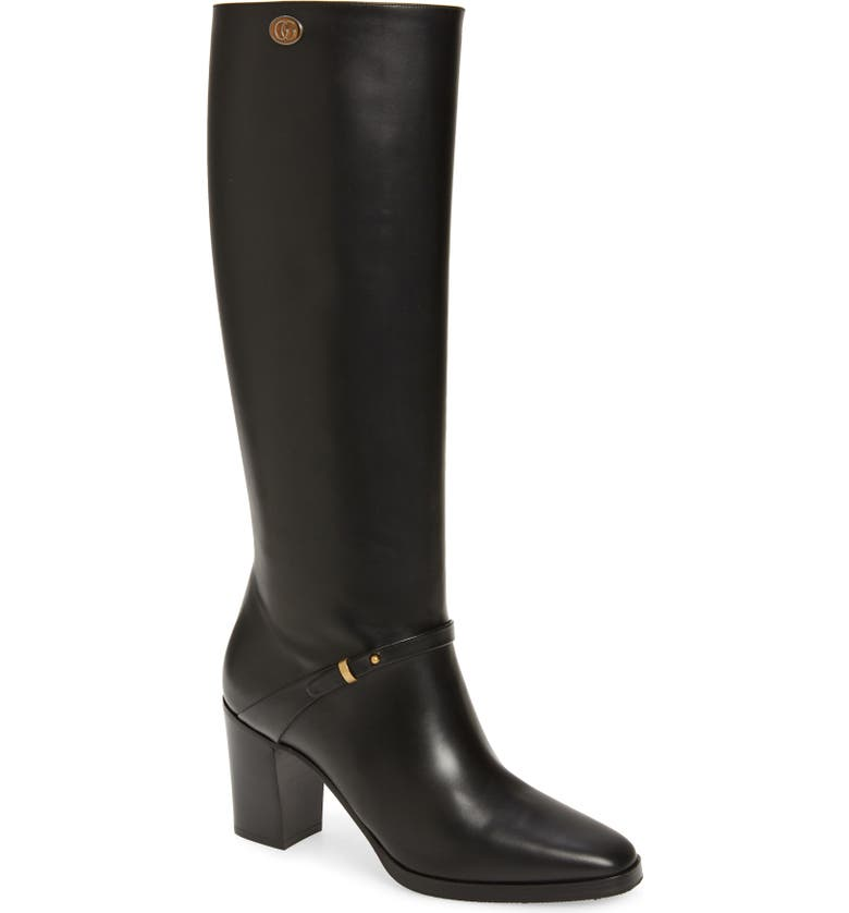 GUCCI Rosie Knee High Boot, Main, color, 001