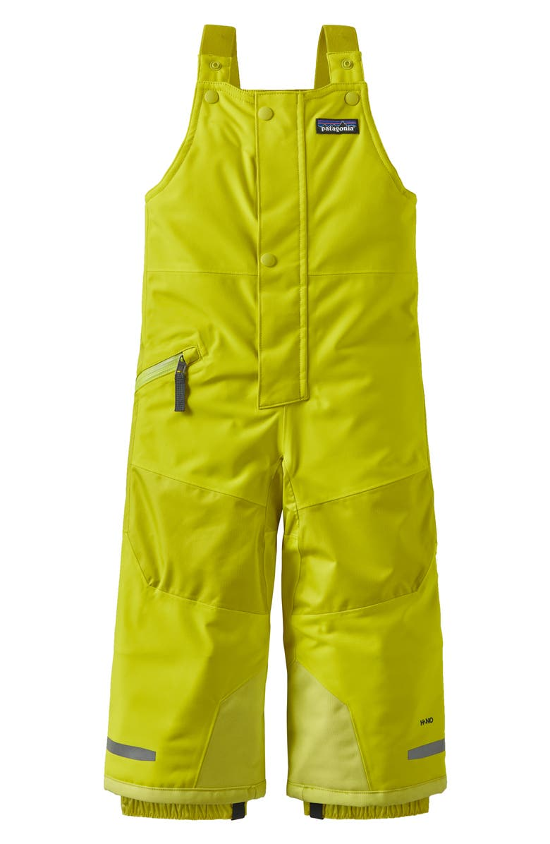 PATAGONIA Kids' Snow Pile Waterproof Insulated Bib Snow Pants, Main, color, CHARTREUSE-CHRT